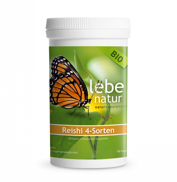 lebe natur® Reishi 4-Sorten Vitalpilz BIO 180er