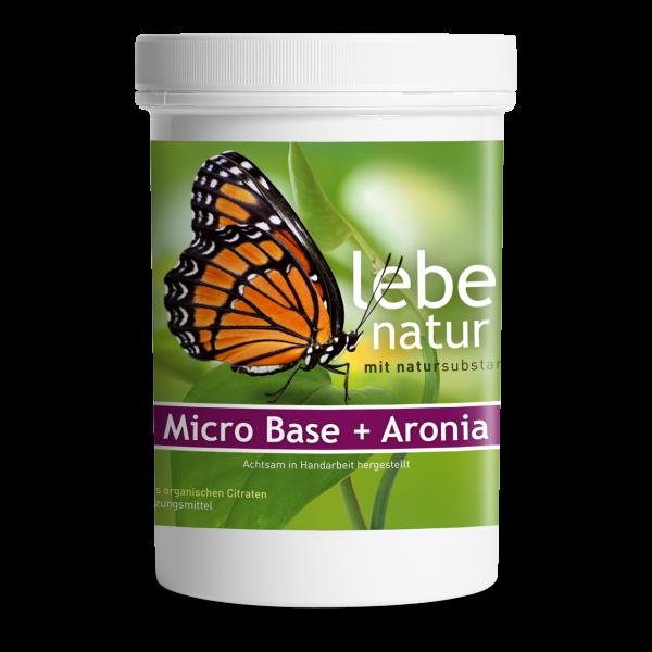 lebe natur® Micro Base + Aronia Basenpulver Dose