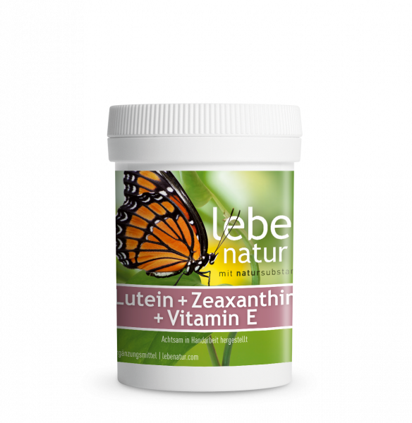 lebe natur® Lutein + Zeaxanthin + Vitamin E Dose