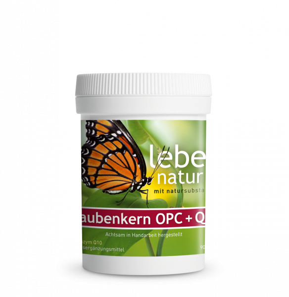 lebe natur® Traubenkern OPC + Coenzym Q10 90er