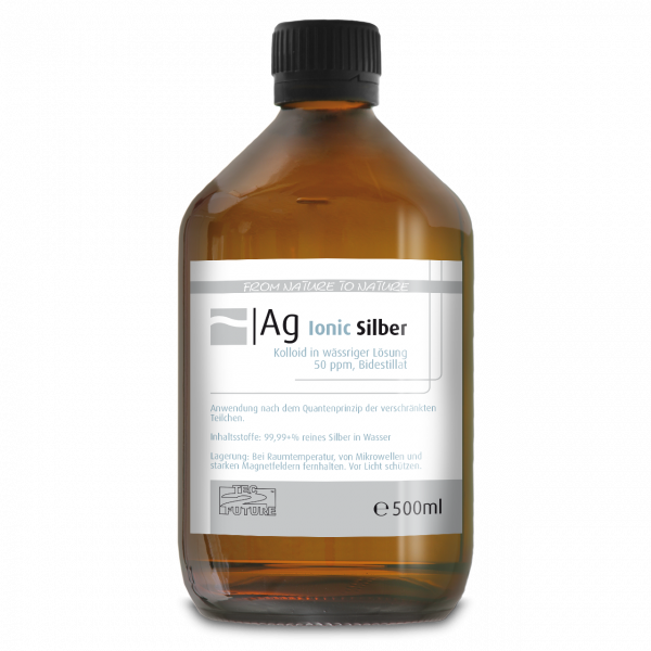 Ionic kolloid. Silber 500ml (Ag) Flasche