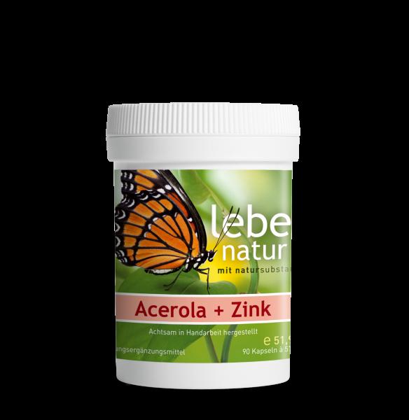 lebe natur® Acerola + Zink Dose