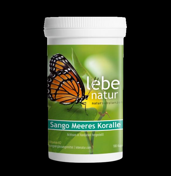 lebe natur® Sango Meeres Koralle mit Vitamin K2 Dose