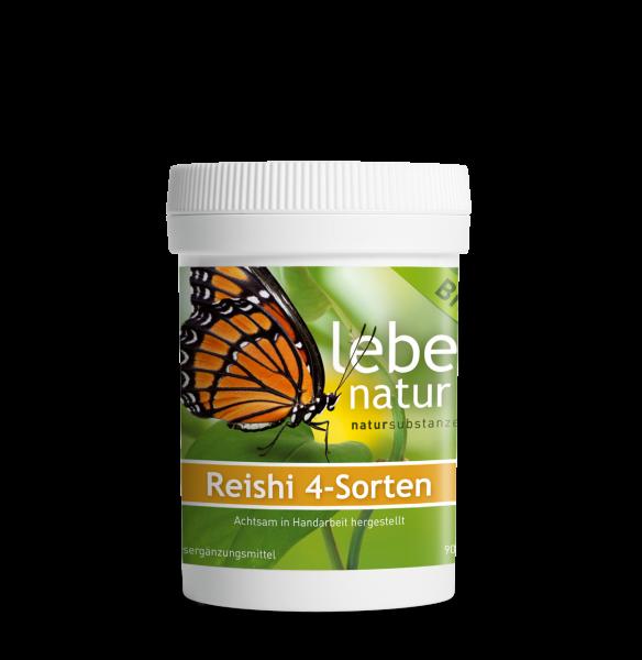 lebe natur® Reishi 4-Sorten Vitalpilz BIO 90er