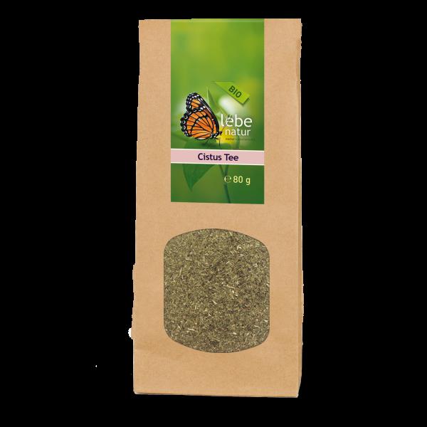 lebe natur® Cistus Tee BIO 80g Packung